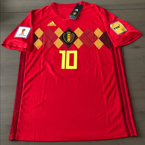 9c6b97005 Belgium Hazard  10 Soccer Jersey Adidas men